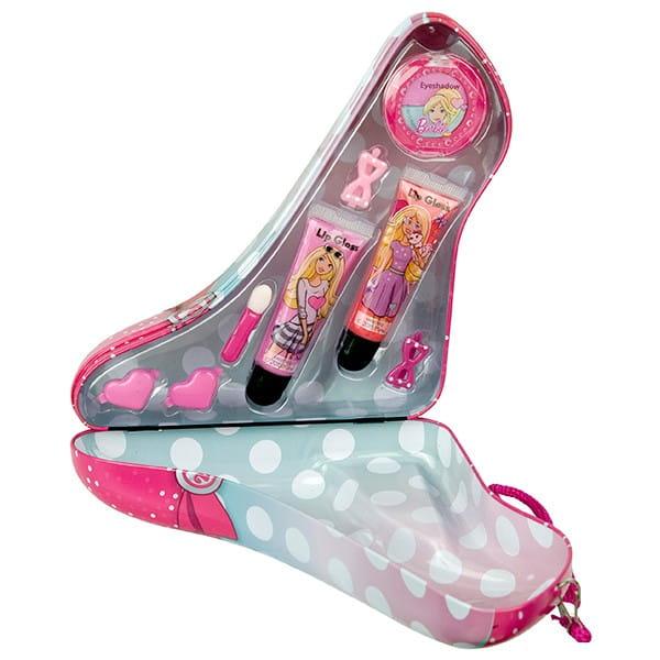 Купить Набор детской декоративной косметики Markwins Barbie в розовой туфельке в интернет магазине игрушек и детских товаров