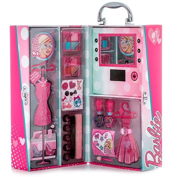 Купить Набор детской декоративной косметики Markwins Barbie в чемоданчике с подсветкой в интернет магазине игрушек и детских товаров