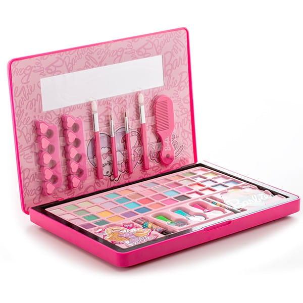 Купить Большой набор детской декоративной косметики Markwins Barbie в кейсе в интернет магазине игрушек и детских товаров