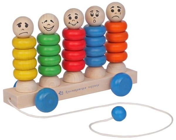 Развивающая игра Краснокамская игрушка КАТ-03 Каталка Квинтет