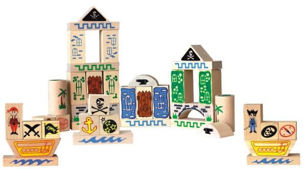 Купить Деревянный конструктор Краснокамская игрушка Пираты в интернет магазине игрушек и детских товаров