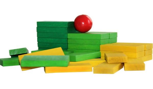 Купить Деревянный конструктор Краснокамская игрушка Эффект домино в интернет магазине игрушек и детских товаров