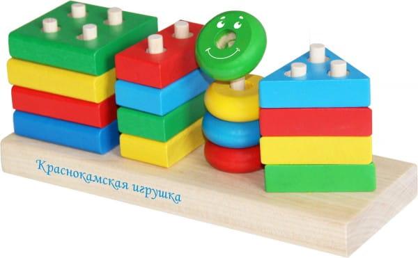 Деревянный конструктор Краснокамская игрушка НСК-01 Геометрик