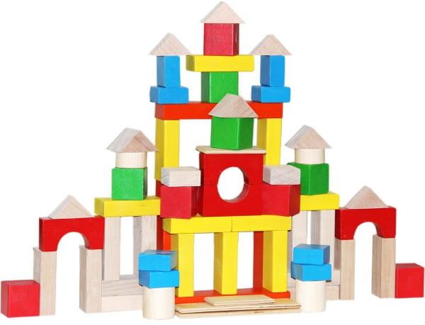 Деревянный конструктор Краснокамская игрушка Строим сами (окрашенный)