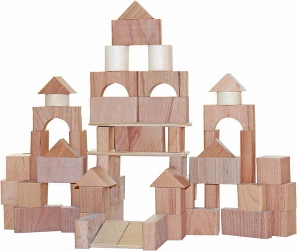 Купить Деревянный конструктор Краснокамская игрушка Строим сами (неокрашенный) в интернет магазине игрушек и детских товаров