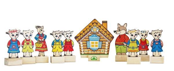 Игровой набор Краснокамская игрушка Волк и семеро козлят