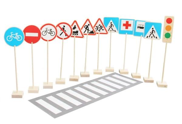 Игровой набор Краснокамская игрушка Н-21 Знаки дорожного движения