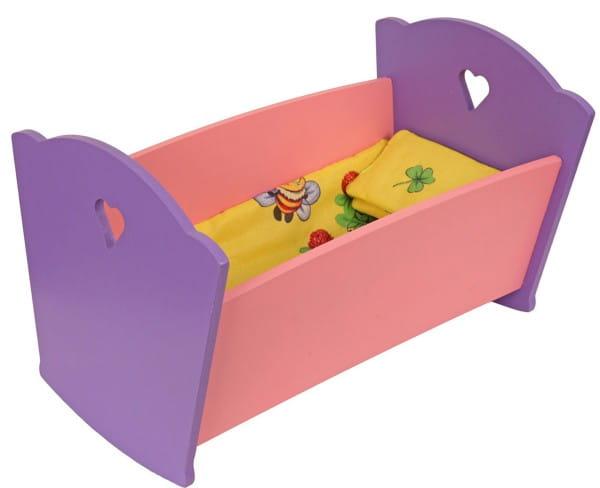 Набор мебели Краснокамская игрушка КМ-02 Кроватка с постельным бельем