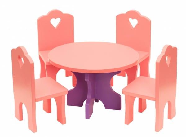 Купить Набор мебели Краснокамская игрушка Столик с четырьмя стульчиками в интернет магазине игрушек и детских товаров