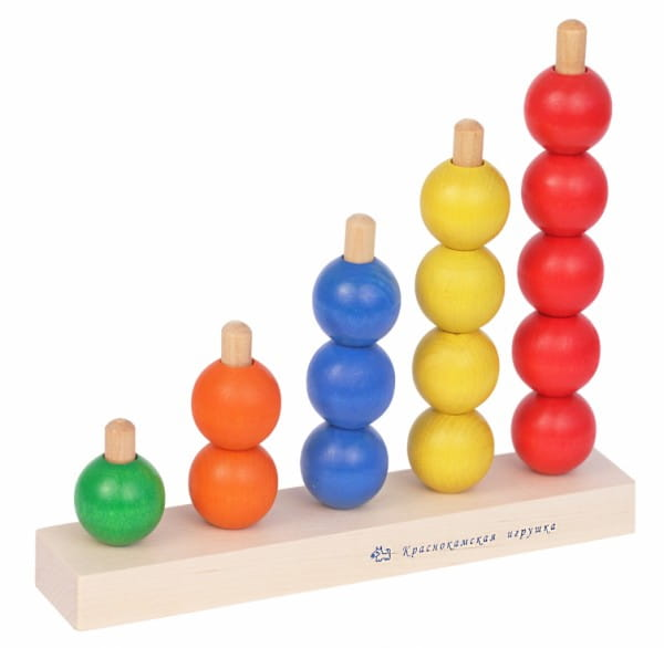 Деревянная пирамидка Краснокамская игрушка ПИР-04 Радуга