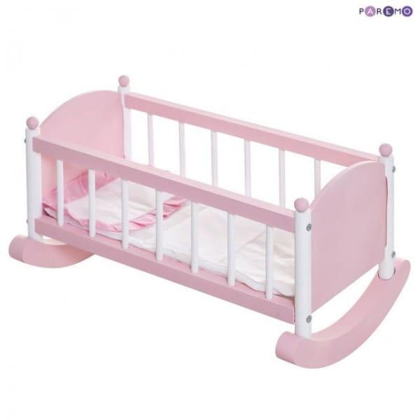 Кроватка - люлька для кукол PAREMO - розовая