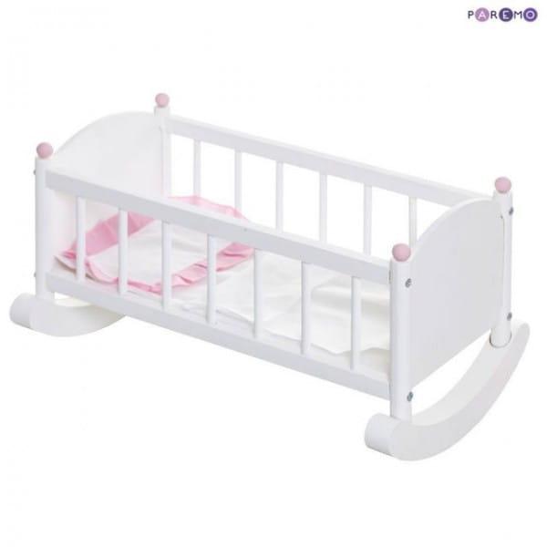 Кроватка - люлька для кукол PAREMO - белая