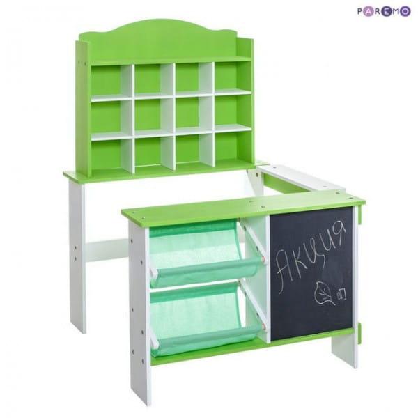 Купить Деревянный игровой магазин Paremo - салатовый в интернет магазине игрушек и детских товаров