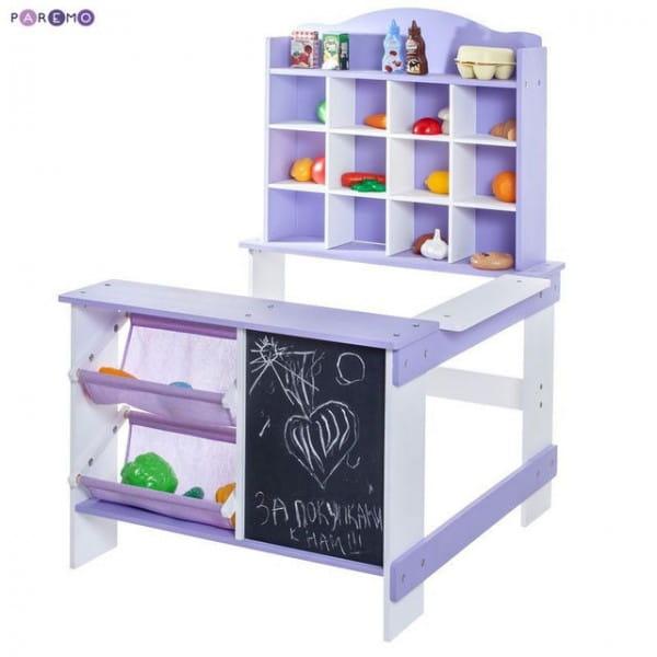 Купить Деревянный игровой магазин Paremo - фиолетовый в интернет магазине игрушек и детских товаров