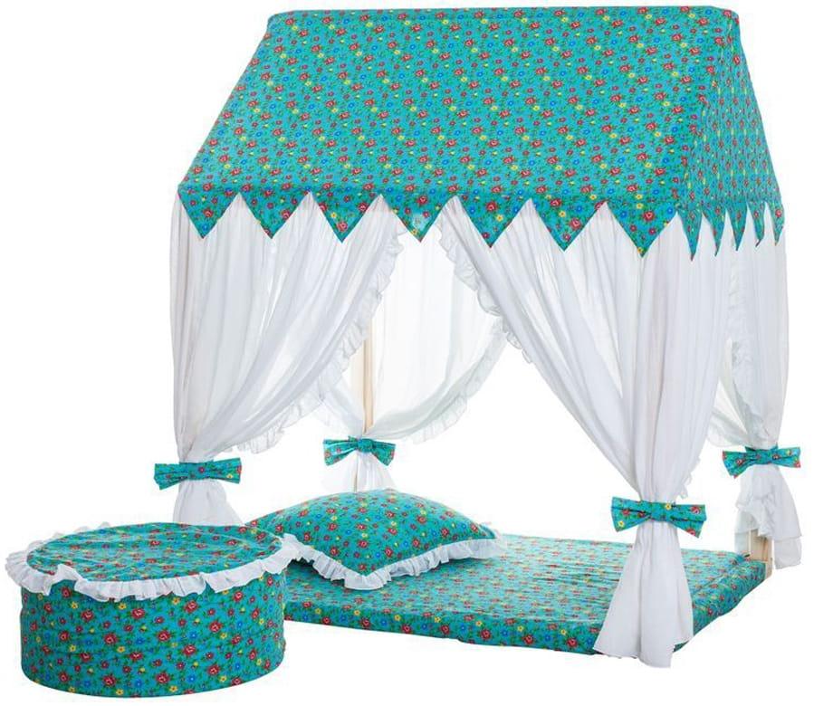 Домик-палатка PAREMO Дворец Жасмин (с пуфиком)