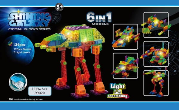 Светодиодный конструктор Shining Galaxy Космическая техника 6 в 1