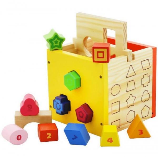 Купить Деревянная игрушка сортер Vulpi-wood Куб в интернет магазине игрушек и детских товаров
