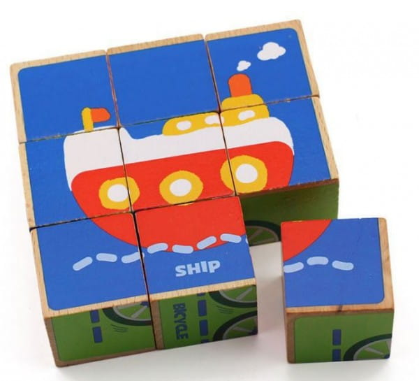 Развивающие кубики - пазл Behno Транспорт