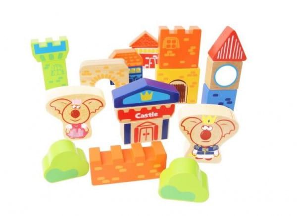 Купить Деревянный конструктор Vulpi-wood Замок в интернет магазине игрушек и детских товаров