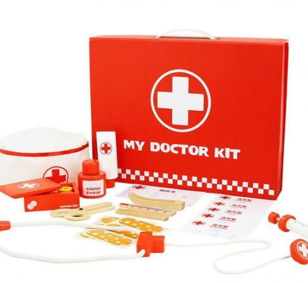 Деревянный игрушечный набор Vulpi-wood 17014 Доктор