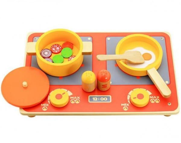 Купить Деревянный игрушечный набор Vulpi-wood Кухня в интернет магазине игрушек и детских товаров