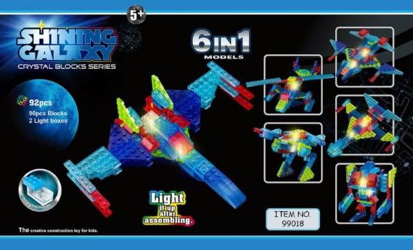 Светодиодный конструктор Shining Galaxy Военный самолет 6 в 1