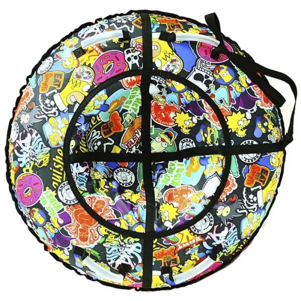 Купить Тюбинг Hubster Люкс Симпсоны - 90 см в интернет магазине игрушек и детских товаров