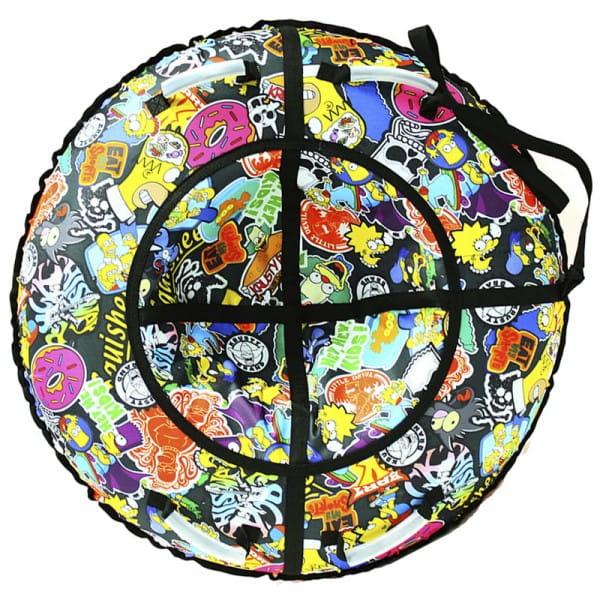 Купить Тюбинг Hubster Люкс Симпсоны - 105 см в интернет магазине игрушек и детских товаров