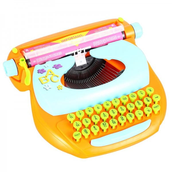 Купить Детская механическая печатная машинка Mehano (русский шрифт) в интернет магазине игрушек и детских товаров