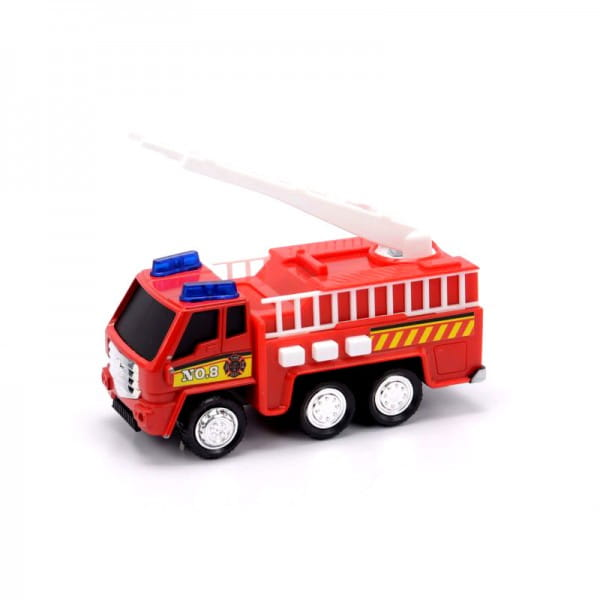 Пожарная машина Soma с лестницей - 12 см (со светом и звуком)