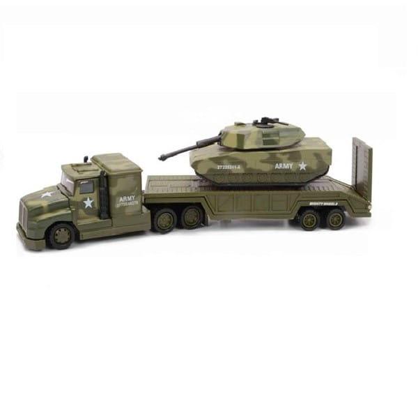 Военный перевозчик Soma с танком - 28 см