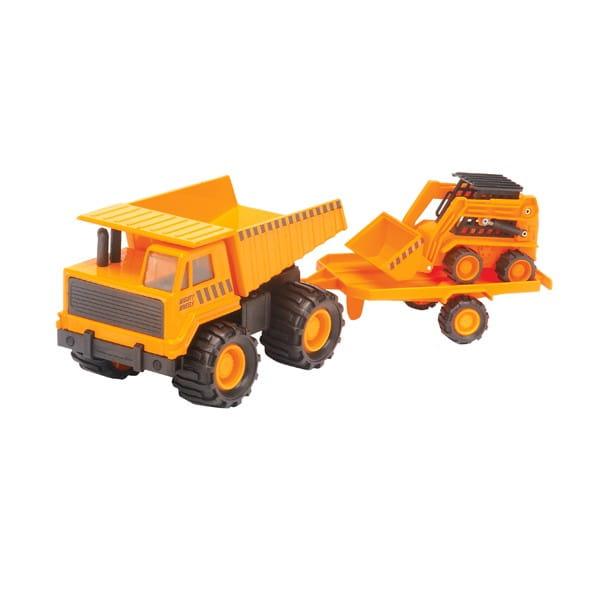 Карьерный грузовик Soma с минипогрузчиком - 18 см