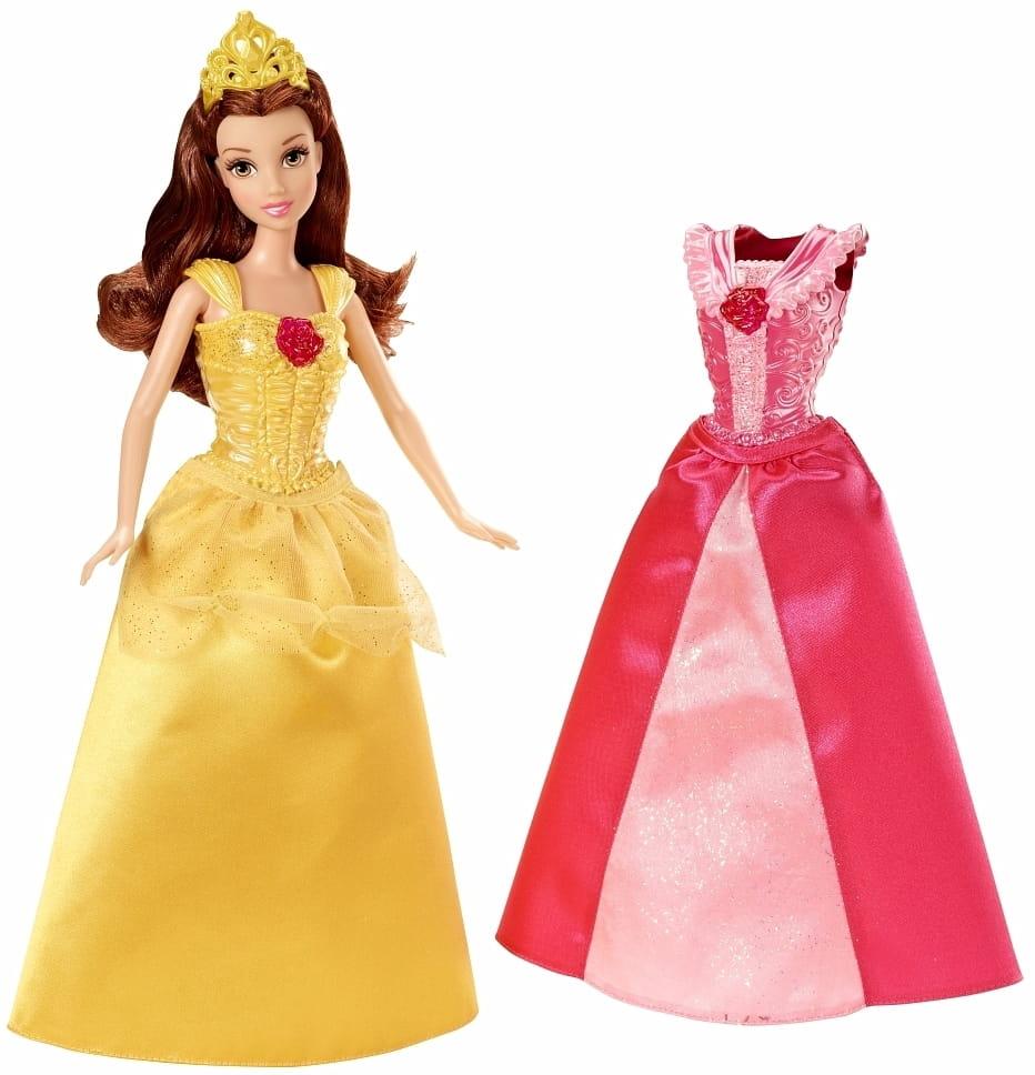Кукла Disney Princess X9357/X9359 Белль с дополнительным нарядом (Mattel)