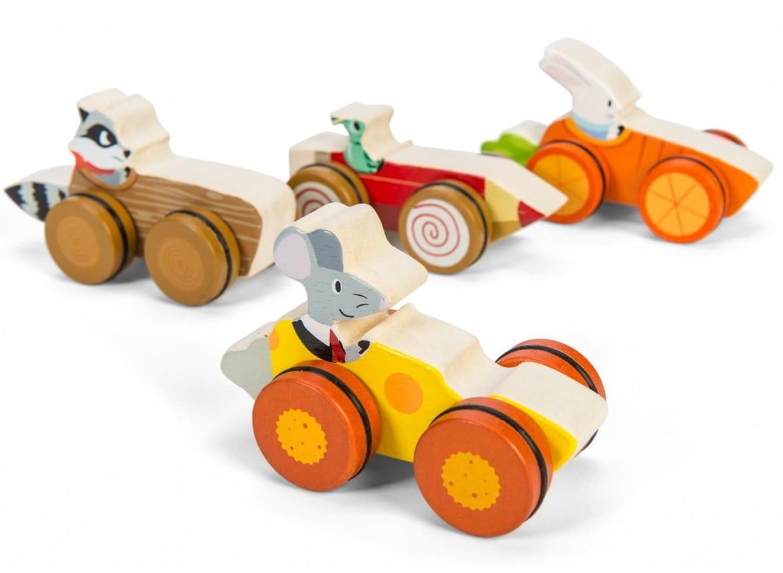Деревянная каталка Le Toy Van PL037 Лесные гонщики