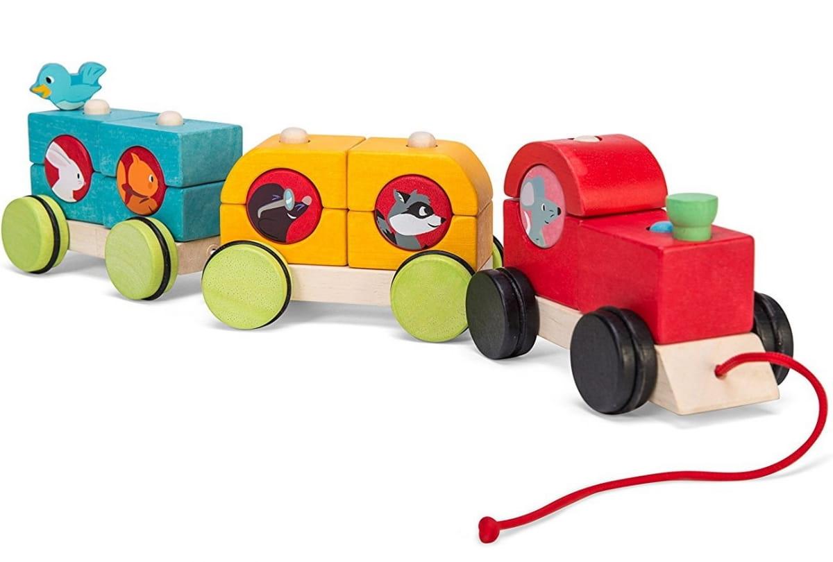 Деревянная каталка-поезд Le Toy Van PL088 Лесной экспресс