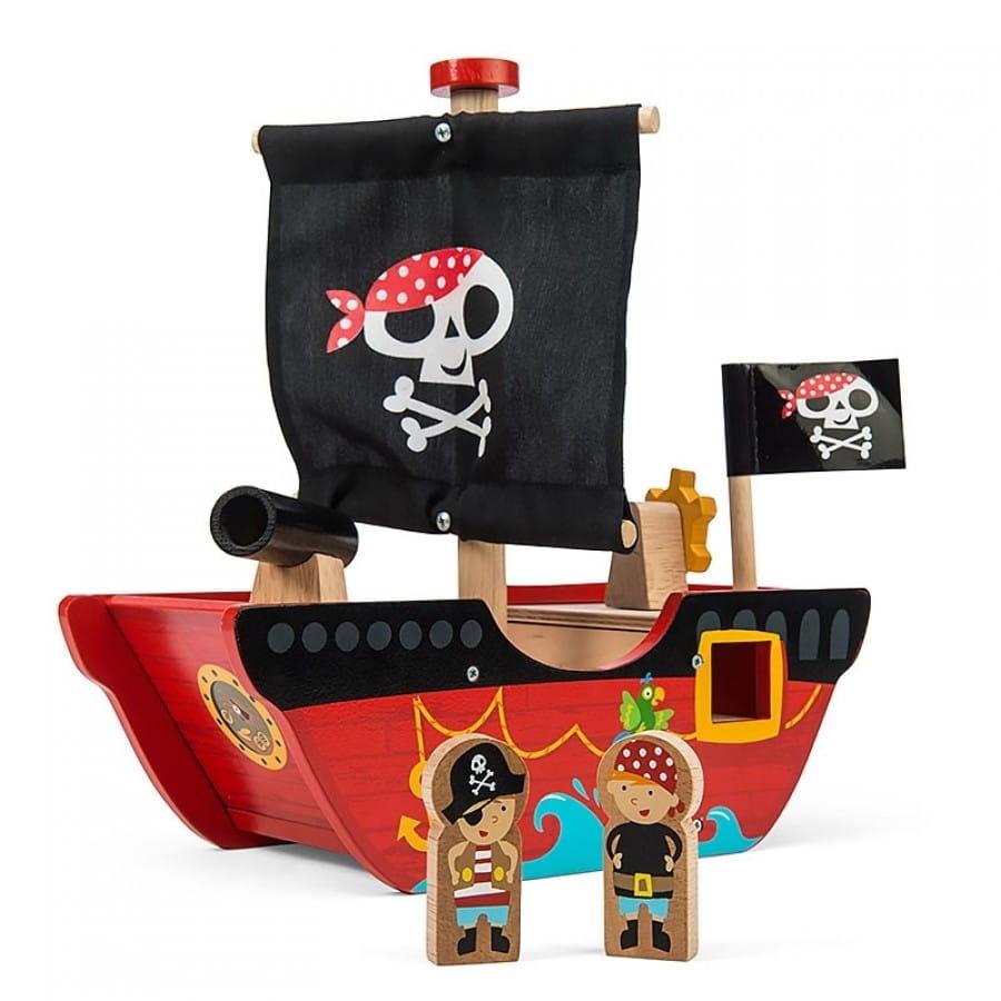 Игровой набор Le Toy Van TV344 Пиратский корабль Отважный капитан