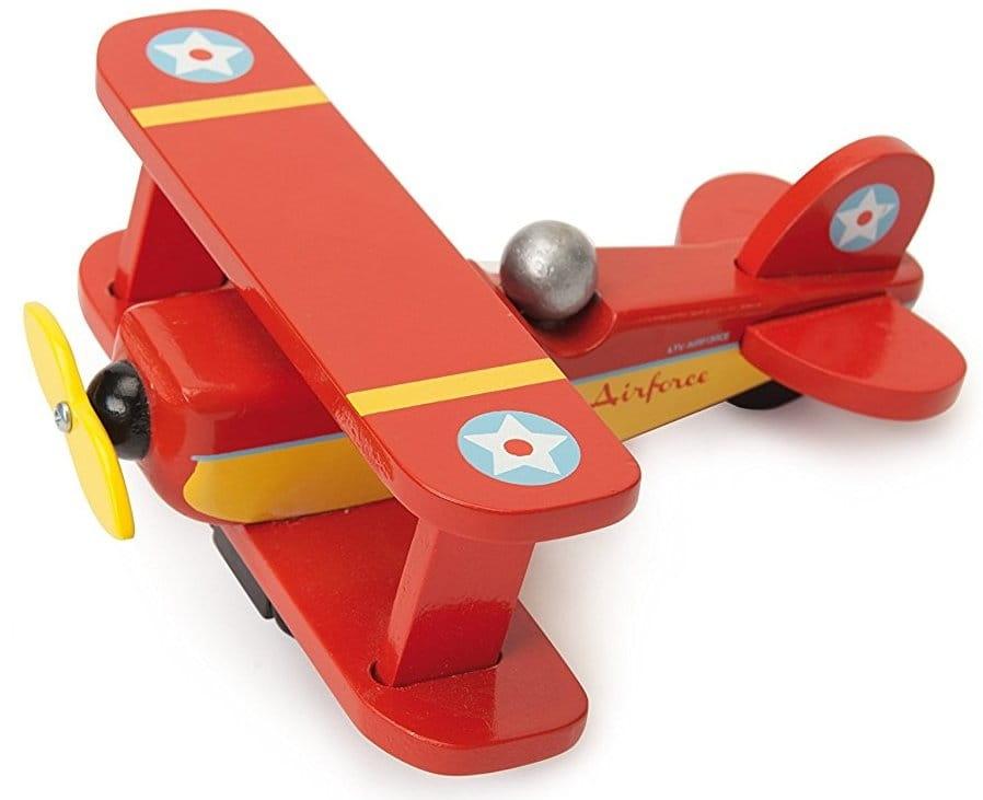 Игрушечный самолет Le Toy Van TV447 Красный биплан