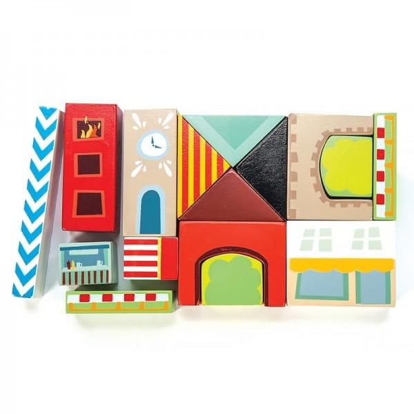 Конструктор для малышей LE TOY VAN Разноцветный город