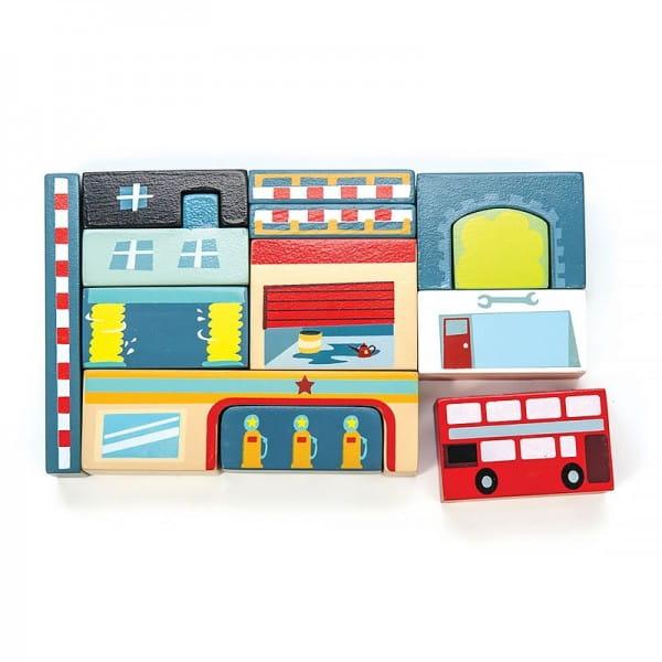 Купить Конструктор для малышей Le Toy Van Городской автосервис в интернет магазине игрушек и детских товаров