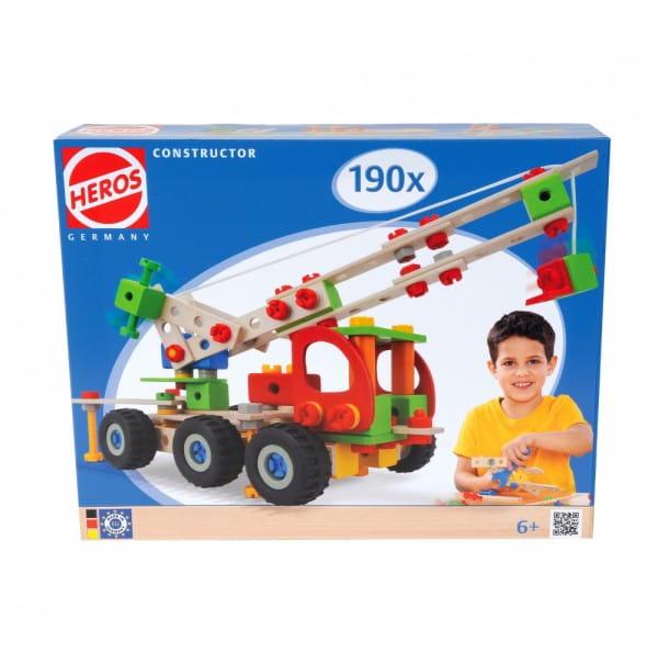 Купить Конструктор Heros Авто кран - 190 деталей (7 вариантов сборки) в интернет магазине игрушек и детских товаров