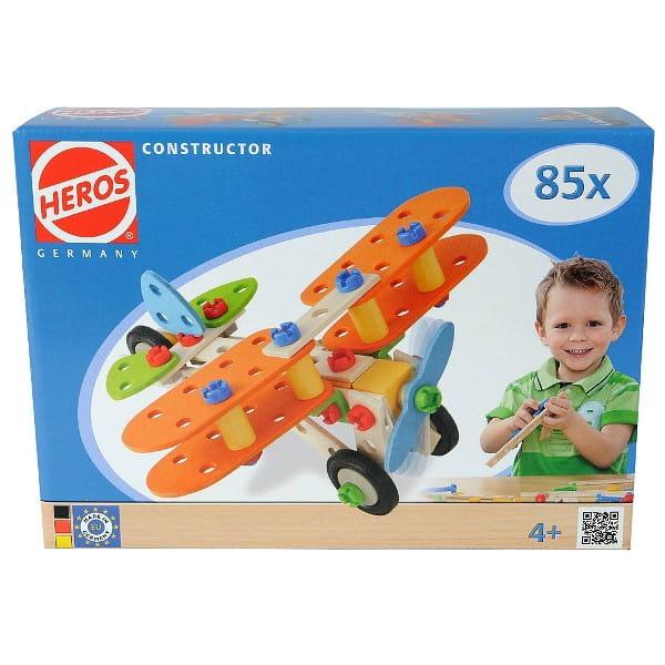 Купить Конструктор Heros Биплан - 85 деталей (4 варианта сборки) в интернет магазине игрушек и детских товаров