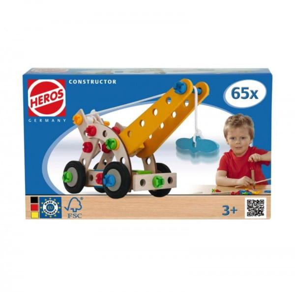 Купить Конструктор Heros Кран - 65 деталей (4 варианта сборки) в интернет магазине игрушек и детских товаров