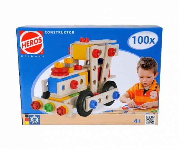 Купить Конструктор Heros Локомотив - 100 деталей (4 варианта сборки) в интернет магазине игрушек и детских товаров