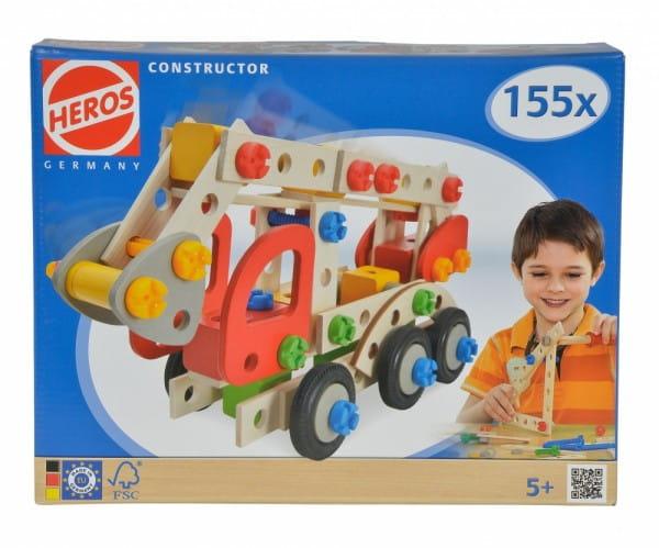 Конструктор Heros Пожарная машина - 155 деталей (3 варианта сборки)