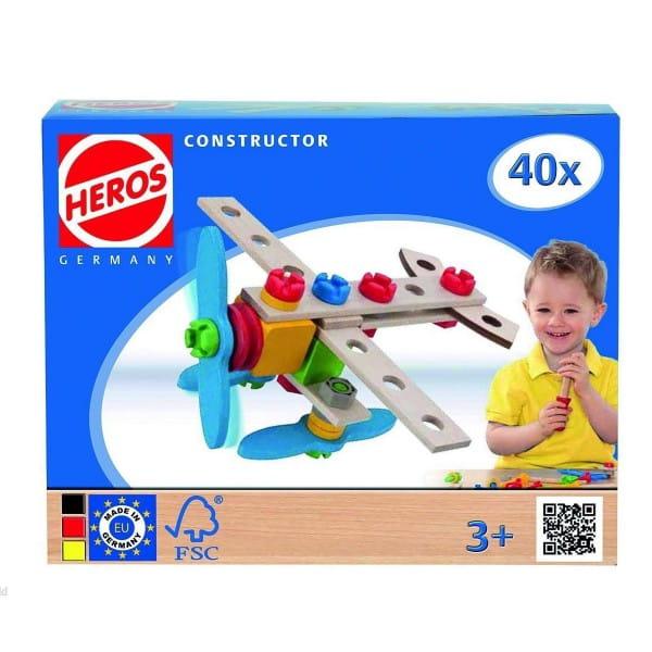 Конструктор Heros Самолет - 40 деталей (2 варианта сборки)