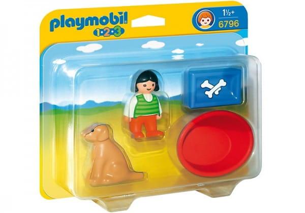 Купить Игровой набор Playmobil Девочка с собакой в интернет магазине игрушек и детских товаров
