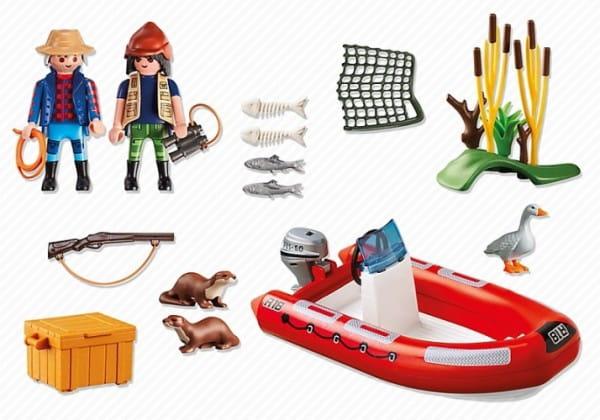 Игровой набор Playmobil В поисках приключений - Лодка с браконьерами