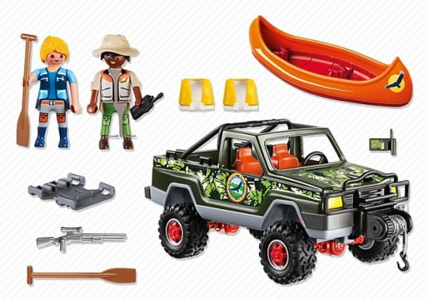 Игровой набор Playmobil В поисках приключений - Пикап с лодкой