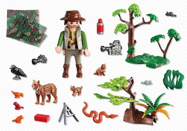 Игровой набор Playmobil В поисках приключений - Семья Рысей с кинооператором