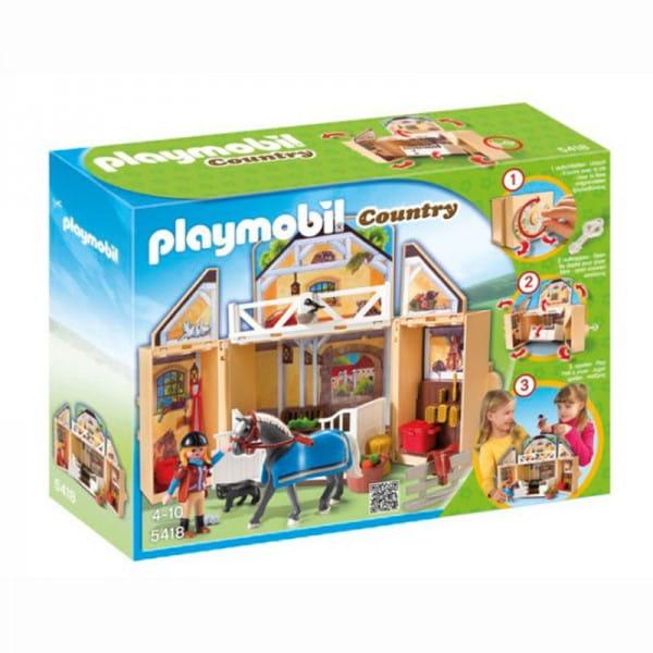 Игровой набор Playmobil Возьми с собой - Конюшня